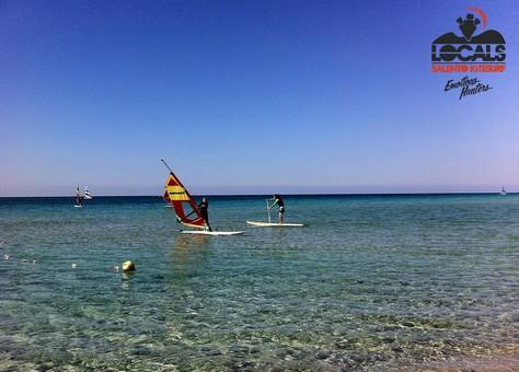SUP e le trasparenze del mar Ionio