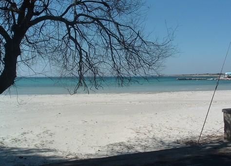 La spiaggia di Sant'Isidoro pochi km a nord di Gallipoli