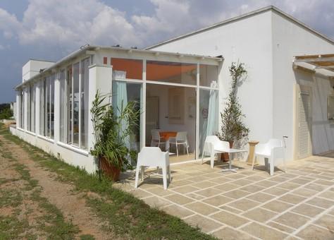 Area esterna esclusiva villa Zefiro