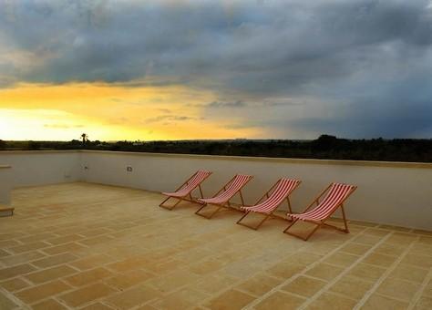 terrazza al tramonto