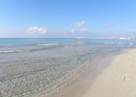 La spiaggia di Baia Verde a Gallipoli