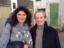 Con Osvaldo Bevilacqua durante le riprese di Sereno Variabile Rai 2