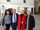 Con Osvaldo Bevilacqua, il Presidente e il Direttore del Gal Serre Salentine